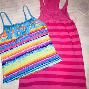Girls Swim Suit Top and Coverup Size 10/12